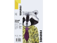 Officeworks Reeves Visual Art Diary 110gsm 60 Sheets A4 Racoon
