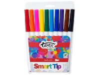 Officeworks Texta Smarttip Coloured Markers Assorted 10 Pack