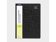 Officeworks J.Burrows A4 Week to View 2022 Textured Diary Black
