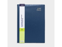 Officeworks J.Burrows A5 Week to View 2022 Executive Diary Blue