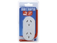 Officeworks Jackson Surge Protected Double Adaptor