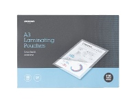 Officeworks J.Burrows A3 Laminating Pouches 125 Micron 100 Pack Clear