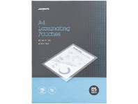 Officeworks J.Burrows A4 Laminating Pouches 125 Micron 100 Pack Clear