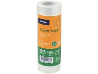 Officeworks J.Burrows Recycled Clear Tape Roll 18mmX25m 8 Pack
