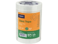 Officeworks J.Burrows Recycled Clear Tape Roll 18mmX50m 8 Pack