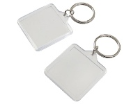 Officeworks J.Burrows Square Photo Tags 2 Pack Clear