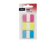 Officeworks J.Burrows Tabs 25 x 38mm Assorted 3 Pack