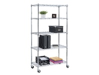 Officeworks J.Burrows 5 Tier Wire Shelving Unit