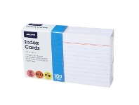 Officeworks J.Burrows Index Cards Ruled 127 x 76mm White 100 Pack