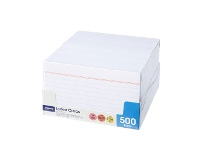 Officeworks J.Burrows Index Cards Ruled 127 x 76mm White 500 Pack