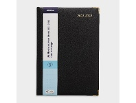 Officeworks J.Burrows A4 Day to Page FY21/22 Elite Diary Black