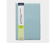 Officeworks J.Burrows A5 Week to View FY21/22 Embossed Diary Blue