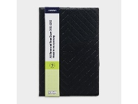 Officeworks J.Burrows A5 Week to View FY21/22 Embossed Diary Black