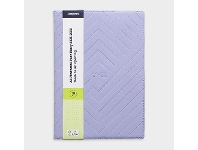 Officeworks J.Burrows A4 Week to View FY21/22 Embossed Diary Lilac