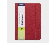 Officeworks J.Burrows A6 Week to View FY21/22 PU Diary Red