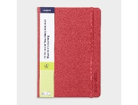 Officeworks J.Burrows A5 Week to View FY21/22 PU Diary Red