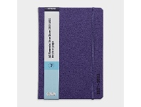 Officeworks J.Burrows A5 Day to Page FY21/22 PU Diary Purple