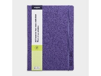 Officeworks J.Burrows A4 Week to View FY21/22 PU Diary Purple