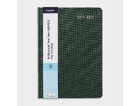 Officeworks J.Burrows A5 Day to Page FY21/22 Textured Diary Green
