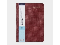 Officeworks J.Burrows A5 Day to Page FY21/22 Textured Diary Burgundy
