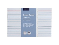Officeworks J.Burrows Index Cards Ruled 152 x 102mm White 100 Pack