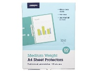 Officeworks J.Burrows A4 60 Micron Sheet Protectors 100 Pack