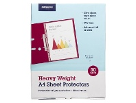 Officeworks J.Burrows A4 80 Micron Sheet Protectors 50 Pack
