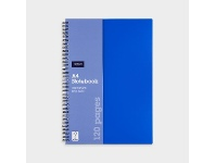 Officeworks J.Burrows A4 PP Notebook 120 Page Blue