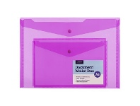 Officeworks J.Burrows Duo Pocket Document Wallet Pink
