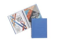 Officeworks J.Burrows Display Book A4 20 Pocket Fixed Blue