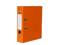 Officeworks J.Burrows Gloss Lever Arch File A4 2 Ring Orange