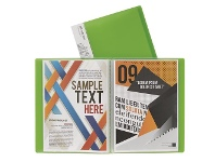 Officeworks J.Burrows Display Book A4 20 Pocket Fixed Green