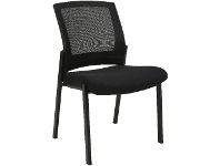 Officeworks J.Burrows Matrix Mesh Visitor Chair Black