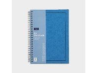 Officeworks J.Burrows A5 Hard Cover Pressboard Notebook Blue