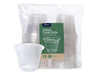 Officeworks J.Burrows Clear Plastic Cups 255mL 50 Pack