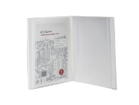 Officeworks J.Burrows A4 Presentation Display Book with 20 Pockets White