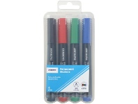 Officeworks J.Burrows Permanent Markers Chisel Assorted 4 Pack