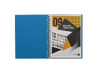 Officeworks J.Burrows Display Book A4 20 Pocket Refillable Blue
