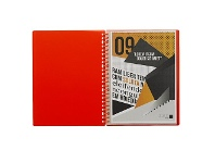 Officeworks J.Burrows Display Book A4 20 Pocket Refillable Orange