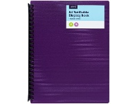 Officeworks J.Burrows 20 Pocket Refillable Display Book Purple