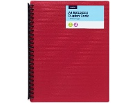Officeworks J.Burrows 20 Pocket Refillable Display Book Red