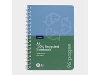 Officeworks J.Burrows 100% Recycled A6 Spiral Notebook 96 Pages