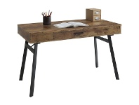 Officeworks Otto Rustic Industrial 1 Drawer Semi Assembled 1200mm Desk