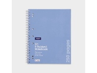Officeworks J.Burrows A4 Spiral 5 Subject Notebook 250 Page