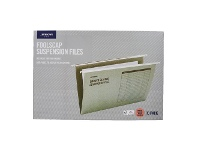 Officeworks J.Burrows Suspension File Foolscap Green 10 Pack