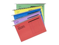 Officeworks J.Burrows Suspension File Foolscap Assorted 50 Pack