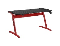 Officeworks J.Burrows Typhoon Elite Gaming Desk 1500mm Black and Red