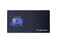 Officeworks J.Burrows Typhoon Gaming Desk Mat 1000 x 550mm Black