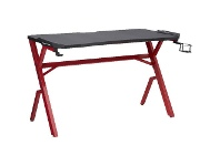 Officeworks J.Burrows Typhoon Pro 1200mm LED Gaming Desk Black and Red