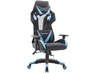 Officeworks J.Burrows Typhoon Pro Gaming Chair Neon Blue